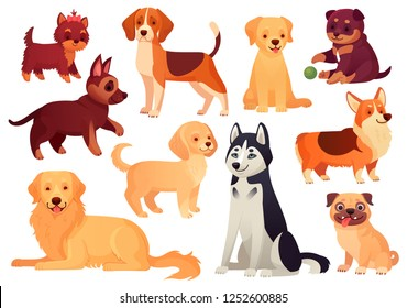 Image of: Beagle Cartoon Puppy And Dog Happy Puppies With Smiling Muzzle Loyal Dogs And Friendly Dog Shutterstock Cartoon Dog Images Stock Photos Vectors Shutterstock