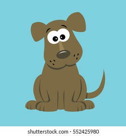 Cartoon Puppy Dog Vector Illustration