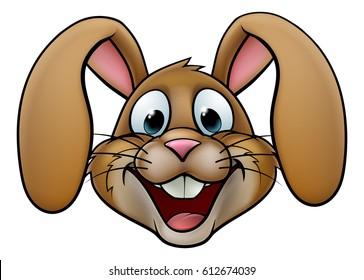 A cartoon rabbit or Easter Bunny face