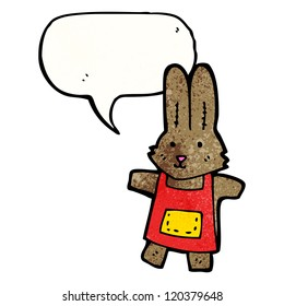 cartoon rabbit with speech bubble