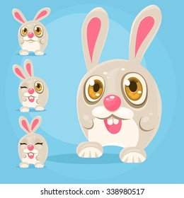 Cartoon Rabbit, vector illustration for animation and game