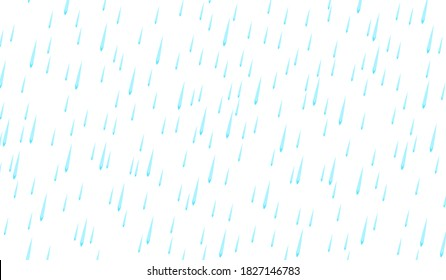 Cartoon raining isolated on white background