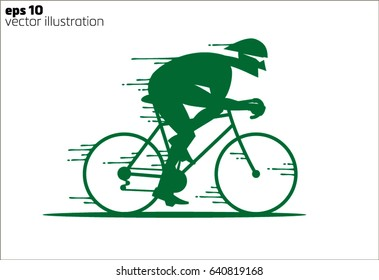 Cartoon rapid cyclist logo
