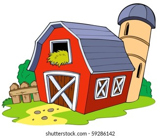 Cartoon Illustration Barn Images Stock Photos Vectors