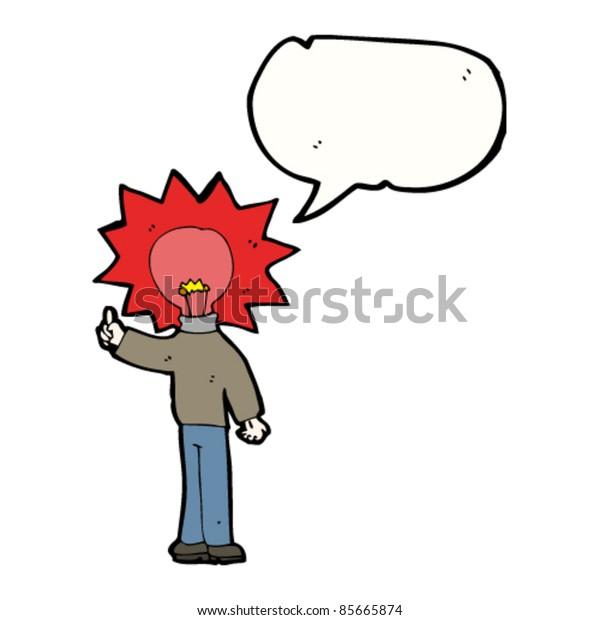 cartoon red light man