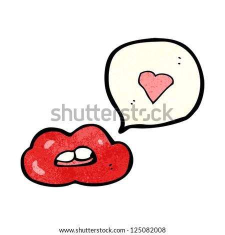 Cartoon Red Lips Stock Vector Royalty Free 125082008 Shutterstock