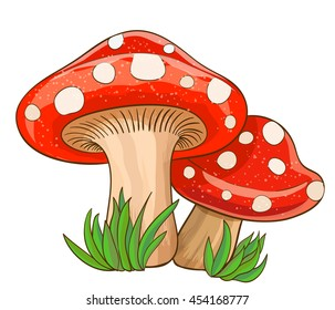 mushroom cartoon images stock photos vectors shutterstock rh shutterstock com mushrooms cartoon png mushrooms cartoon drawings