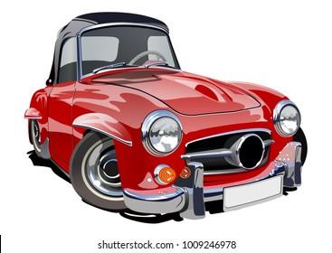 Cartoon retro car.