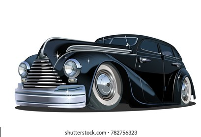 Cartoon retro car. Available eps-10 vector format separated by groups for easy edit