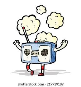 cartoon retro radio