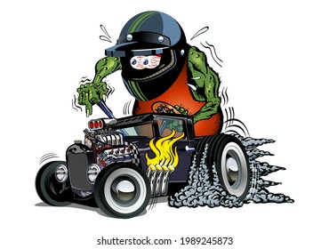 Cartoon retro rat rod. Available EPS-10 vector format separated by groups and layers for easy edit