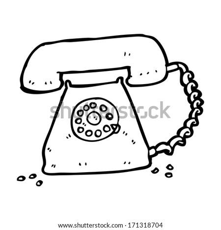 Cartoon Retro Telephone Stock Vector Royalty Free 171318704