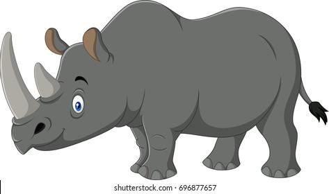 Cartoon rhino mascot