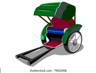 Cartoon rickshaw