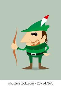 Cartoon Robin Hood