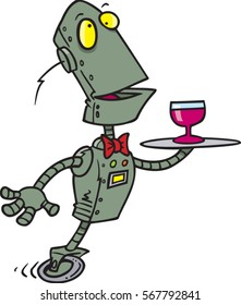 cartoon robot butler