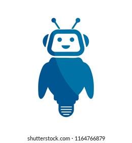 Cartoon robot icon – stock vector