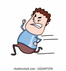 cartoon running man illustration