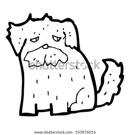 Cartoon Sad Dog Stock Vector (Royalty Free) 103876016 - Shutterstock