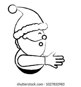 Cartoon santa claus icon