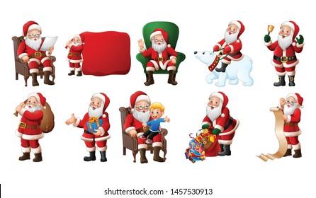 Cartoon Santa Claus illustration collections