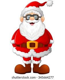 cartoon santa posing