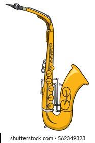 Cartoon saxophone
