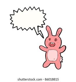 cartoon scary dead rabbit toy