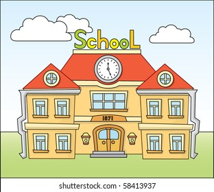 Cartoon school