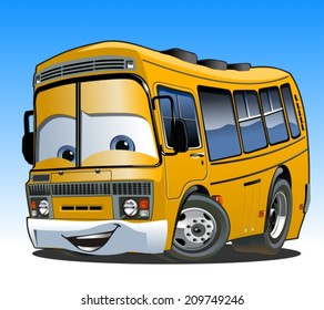 Cartoon School Bus. Available EPS-10 vector format separated by groups and layers for easy edit
