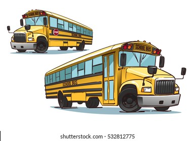 Cartoon School Bus illustration