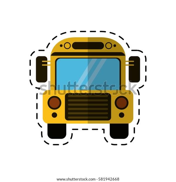 cartoon school bus transport design