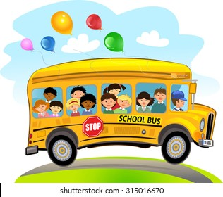 school bus clipart images stock photos vectors shutterstock rh shutterstock com clip art school bus with kids clip art school bus with wheelchair lift