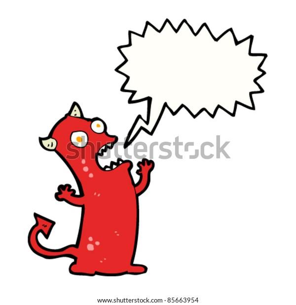 cartoon screaming little devil