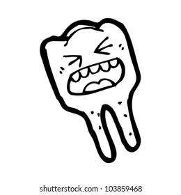cartoon screaming tooth