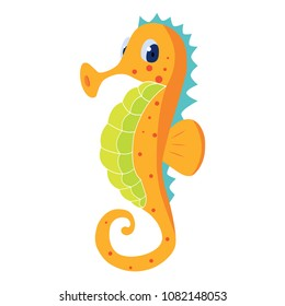 Cartoon seahorse illustration