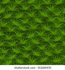 Cartoon seamless tilable grass pattern