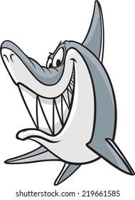 A cartoon Shark. Vector file available. Sneaky Shark