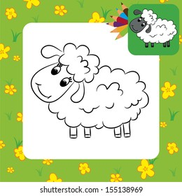 Sheep Coloring Page Images, Stock Photos & Vectors | Shutterstock