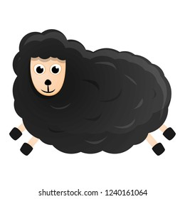 Cartoon sheep icon. Illustration of cartoon sheep vector icon for web design isolated on white background