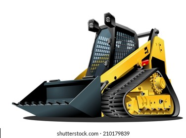 Cartoon Skid-steer. Availabe eps-10 vector format separated by groups and layers for easy edit