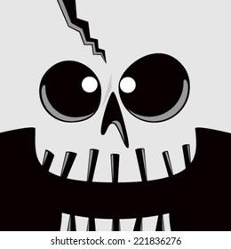 Cartoon Skull Face
