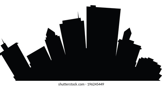 Cartoon skyline silhouette of the city of Dayton, Ohio, USA.