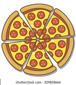 pizza cartoon images  stock photos   vectors shutterstock Pineapple Clip Art pepperoni pizza clipart free
