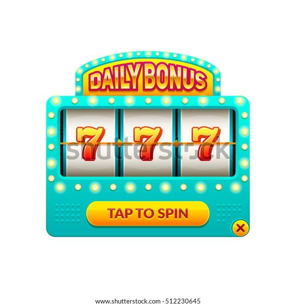 Cartoon Slot Machine Daily Bonus Gambling Stock Vector Royalty Free 512230645