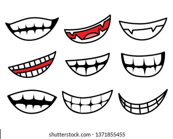Cartoon smiling by Vector and illustrator