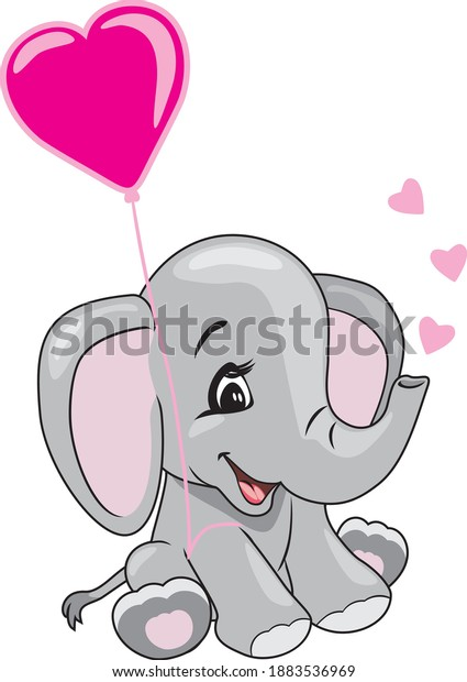 cartoon-smiling-elephant-holding-heart-6