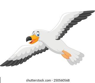 cartoon seagull images stock photos vectors shutterstock rh shutterstock com cartoon seagulls flying cartoon seagull template