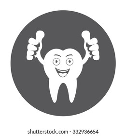 Cartoon Smiling tooth icon