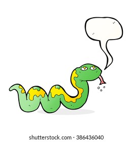 cartoon snake with speech bubble